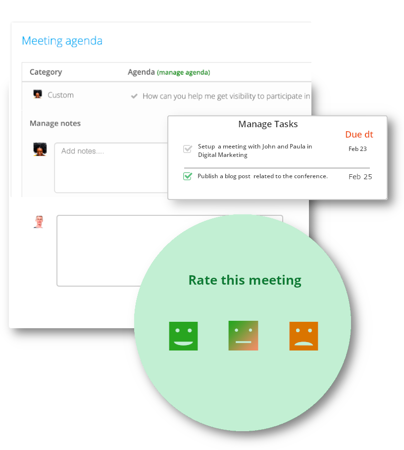 Real-time notes in 1 to 1 meetings